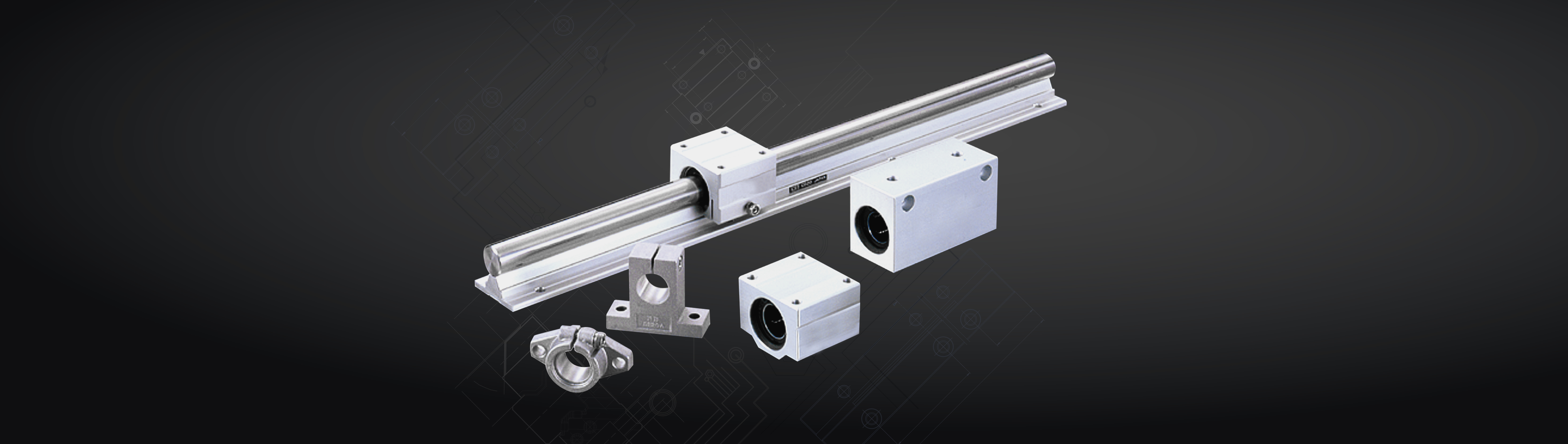 Guide shafts and linear bearings